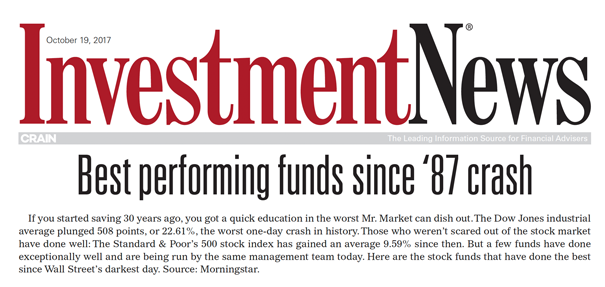 Best Performing Funds Since 87 Crash